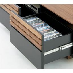 AlusStyle/アルススタイル リビングシリーズ テレビ台 幅150.5cm 引き出しにはCD・DVDの背表紙を見せて収納できます。