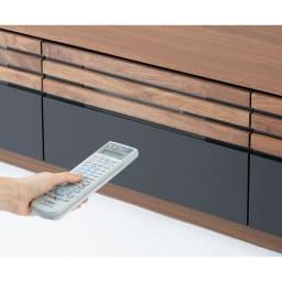 AlusStyle/アルススタイル  リビングシリーズ テレビ台 幅200.5cm 引き出しを閉めたままでもデッキのリモコン操作が可能。(デッキの種類によっては高さ調整が必要です)