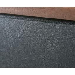 AlusStyle/アルススタイル リビングシリーズ サイドキャビネット 幅40cm・右開き 前面にはブラックのレザー調の表面材を使用。