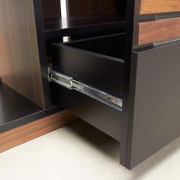 AlusStyle/アルススタイル リビングシリーズ コーナーテレビ台 幅119.5cm 引き出しには開閉がスムーズなレール付き