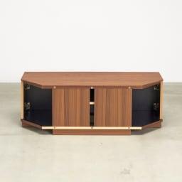 AlusStyle/アルススタイル リビングシリーズ コーナーテレビ台 幅119.5cm 配線しやすいよう、背面にはスリットを設けています。
