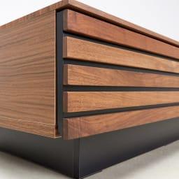 AlusStyle/アルススタイル リビングシリーズ リビングテーブル 幅110.5cm 引き出し前面にウォルナット無垢材を使用した高級感あるデザイン。