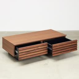 AlusStyle/アルススタイル リビングシリーズ リビングテーブル 幅110.5cm 引き出し2杯付きでたっぷりとした収納力です。