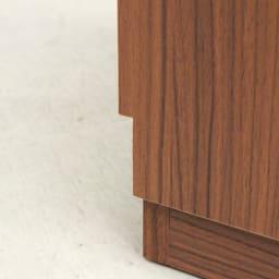 AlusStyle/アルススタイル 薄型ホームオフィス サイドチェスト 背面は幅木カット仕様で壁にぴったり設置可能です。