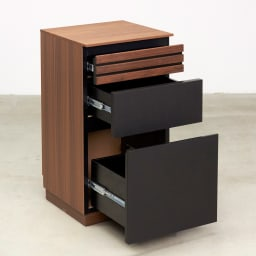 AlusStyle/アルススタイル 薄型ホームオフィス サイドチェスト 大きな引出3杯付きで収納力もたっぷり。