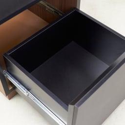 AlusStyle/アルススタイル 薄型ホームオフィス サイドチェスト 引出には、開閉滑らかなフルスライドレールを使用しています。