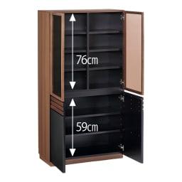 AlusStyle/アルススタイル 薄型ホームオフィス ブックシェルフ幅80cm お届けはこちらのブックシェルフです。