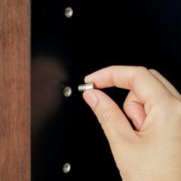 AlusStyle/アルススタイル 薄型ホームオフィス ブックシェルフ幅80cm 棚ダボは安定感のあるネジ込み式。6cmピッチで調節可能。収納物に合わせて無駄なく空間を活用できます。