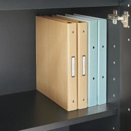 AlusStyle/アルススタイル シェルフシリーズ 上台:オープン&下台:扉 幅60cm高さ192cm 下台の扉内にA4ファイルも収まります。学校関係の書類や家電の取扱説明書、在宅ワーク用の資料の管理に便利です。