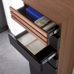 AlusStyle/アルススタイル ルーター収納書類チェスト A4タイプ高さ96cm 朝方の引き出しなので、中身が見やすく紙類の収納に。文房具などのこまごましたものの収納にもおすすめ。