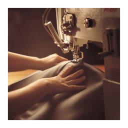 総革張り・レザーソファシリーズ コーナーソファーセット(座って右)[LX コレクション] POINT.4材料と生産過程の徹底した管理。