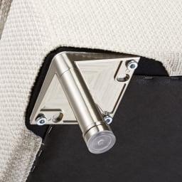 Slimleg(スリムレッグ)  カバーリングソファ トリプルソファ(3人掛け) 床接地面には床にキズがつきにくいように配慮が施されています。