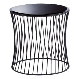 Tumble/タンブル モダンサイドテーブル ブラック
