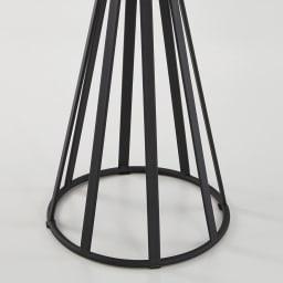 ラディア サイドテーブル 径44cm 高さ41cm 脚部アップ(ナチュラルはブラック)