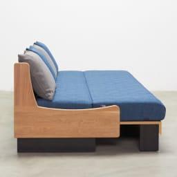 Licol/リコル ソファベッド 幅160 [国産] ベッド時 横から
