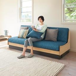Licol/リコル ソファベッド 幅200 [国産] ソファ時もゆったり座れます