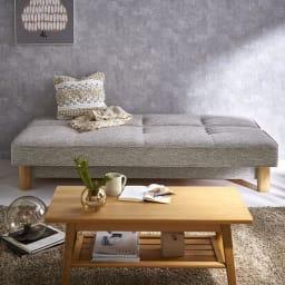 Skrevet/スクレベット 収納付きソファベッド 幅186cm [国産] [ベッド時]