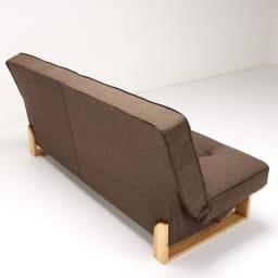 ツイード調ソファベッド ハイバック [国産] 背面も丁寧に縫製されています。