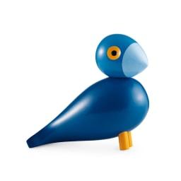 カイ・ボイスンデンマーク 木製オブジェ「ソングバード」 (イ)カイ 鮮やかなブルーでお部屋の主役に