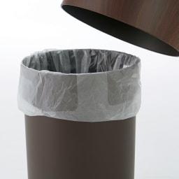 ideaco/イデアコ チューブラー ダストボックス チューブラーオム(ウッド調) カバーでゴミ袋を隠して見た目もクリーン。