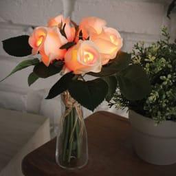 ブーケ LEDライト ガラスベース付 プレゼント・贈り物にもおすすめです。