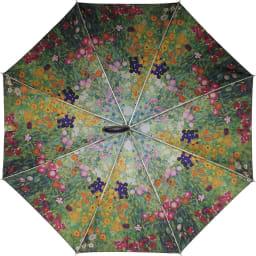 名画フリルジャンプ傘&折りたたみ傘セット 折りたたみ傘(イ)クリムト(フラワーガーデン)