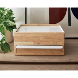 STOWIT JEWELRY/ストウイット ジュエリー ジュエリーボックス Lサイズ[umbra・アンブラ] からくり箱のような形で、仕舞うとすっきりとしたスクエアなシルエットに。