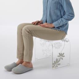 Sarina/サリナ アクリル製バスチェアL&ウォッシュボール コンパクトなMから、立ち座りのラクなLLまで。