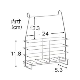 ステンレス製シャンプーバスケット ハンガーバー付き ※画像はバーなしタイプです。