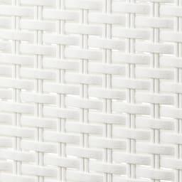 蓋付き 樹脂製 バスケット 40L タテ 同色2個組 (ア)ホワイト