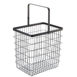 tower/タワー ランドリーワゴン バスケット2個タイプ 洗濯物をベランダまで運ぶのにも便利です。