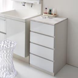 Marblenome/マーブルノーム サニタリーチェスト 幅45奥行30cm (ア)ホワイト ※写真の商品は幅45奥行45cmタイプです