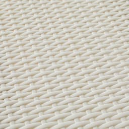 Nelia/ネリア ラタン調サニタリーチェスト4段 素材拡大。通気性の良い素材です。