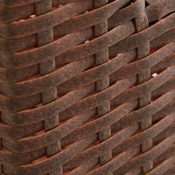 Nelia/ネリア ラタン調すき間ランドリーチェスト ロー高さ120cm 幅17cm ブラウンはかすれたようなリアル感のある風合い。