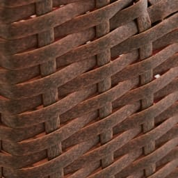 Nelia/ネリア ラタン調すき間ランドリーチェスト ハイ高さ180cm 幅17cm ブラウンはかすれたようなリアル感のある風合い。