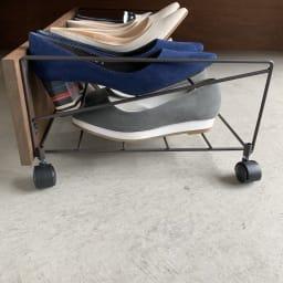シューズボックス下ワゴン シューズワゴン ハイヒールやパンプス、スニーカー、お子様の靴や男性の靴にも対応。