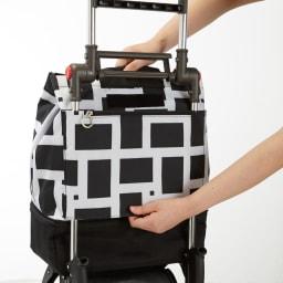 ROLSER/ロルサー ショッピングカート 4輪カート+保冷・保温付きバッグ 上からかぶせるだけの簡単設置。