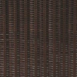 Spesso/スペッソ 折り畳みパーテーション 4連 高さ160cm (イ)ダークブラウン ダークブラウンのラタン網部分はシックなかなり濃いめのブラックに近いこげ茶色。光が透けてちらちらと光るところが美しい。
