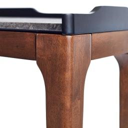 Elusso/エルーソ 石目調天板コンソール・ミニテーブルシリーズ すらりとした脚は木製で、ウォルナットに似たシックな色合いに。