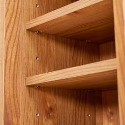 Kasvi/カスビイ コンパクト収納 スリッパラック 幅34cm高さ78cm 棚板はネジダボ式でしっかりと固定されています。