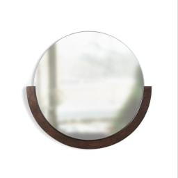 MIRA/ミラ 壁掛けミラー・ウォールミラー 小サイズ径56cm[umbra・アンブラ] ダークブラウン