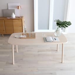 Ridge/リッジ ダイニングテーブル 天然木長方形テーブル 幅160cm×75cm