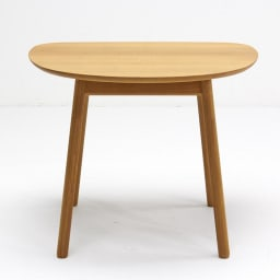 cobrina/コブリナ オーク天然木 ダイニングテーブル 幅89 奥行80cm この向きで脚と脚の間の幅は、上:約40cm、下:68cmです。