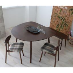 cobrina/コブリナ オーク天然木 ダイニングテーブル 幅111cm 奥行100cm [コーディネート例]ブラウン