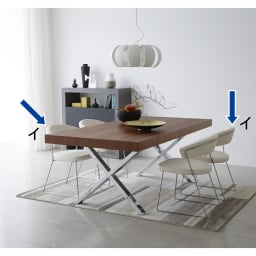 NewYorkニューヨーク 革張りダイニングチェア2脚組[Connubia by Calligaris カリガリス] ホワイトのチェアで、モダンでエレガントなコーディネート