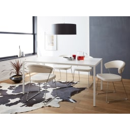 NewYorkニューヨーク 革張りダイニングチェア2脚組[Connubia by Calligaris カリガリス]