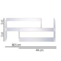 伸長式アクリル製ラック  幅45cm