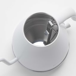 DeLonghi/ デロンギ アイコナ ドリップ 電気ケトル 【KBOE1220J-W/KBOE1220J-GY】 水を入れながら一目で水量がわかる内部メモリが便利です。