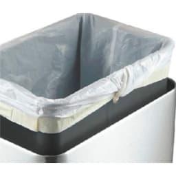 EKO/イーケーオー タッチバー付きダストボックス タテ型 20L ゴミ袋の余った部分をぴったりフィットさせる穴付き。