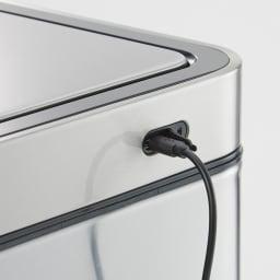 イーケーオー オートクローズダストボックス ヨコ型 約4時間の充電で4ヶ月程度使用可能。